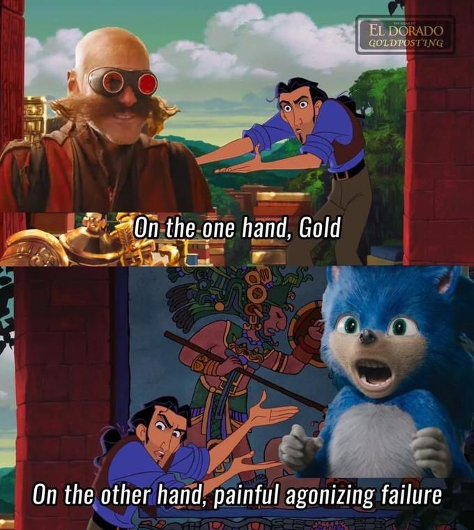 On The Other Hand Sonic The Hedgehog 2020 Film Funny Relatable Memes Funny Memes Funny