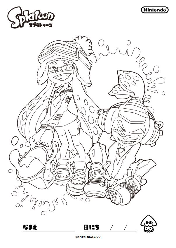 68 best splatoon images on pinterest  coloring pages