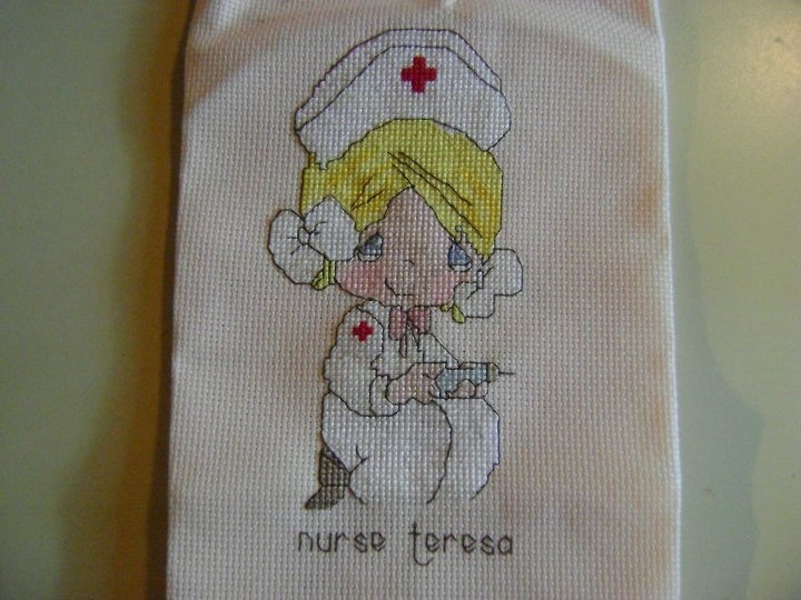 cross stitch nurse teresa precious moments precious moments cross stitch pinterest point. Black Bedroom Furniture Sets. Home Design Ideas