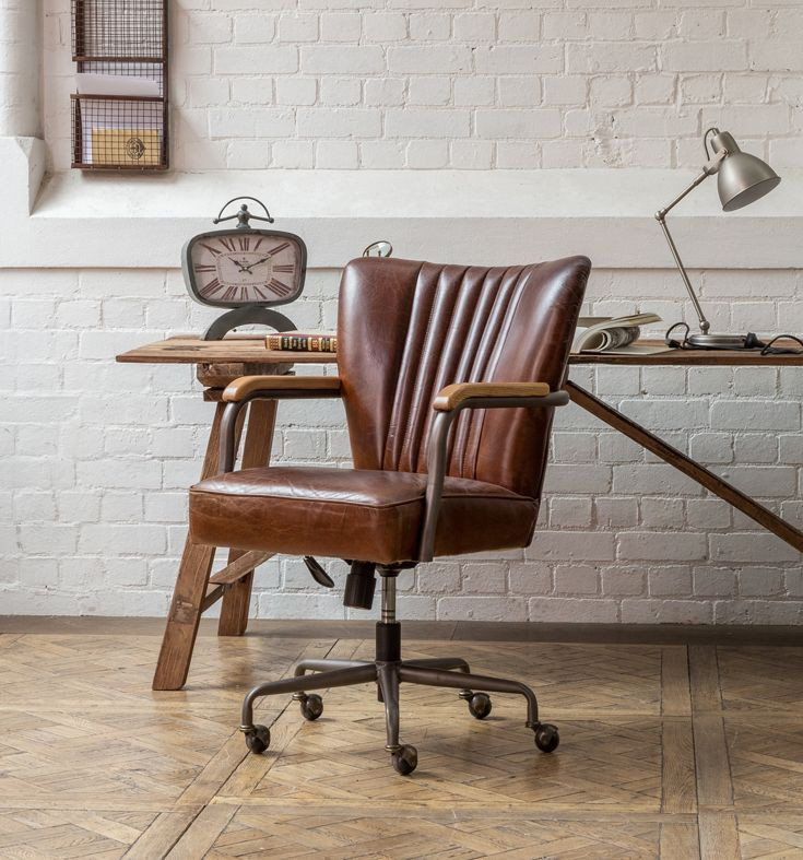 Tilda Metal Leather Office Chair In
