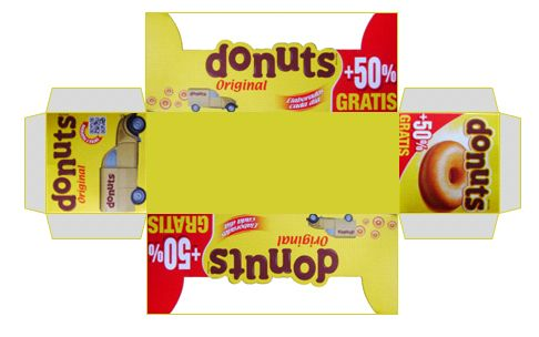 printable box of donuts tutorial included