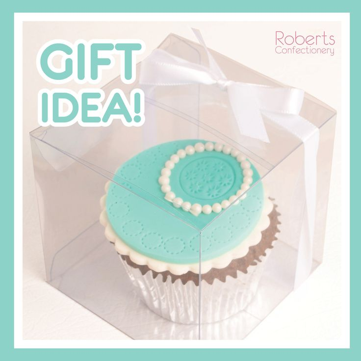 Create the perfect gift and place your cupcakes in a clear acetate box.