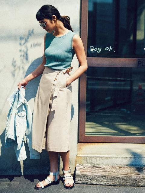 High Waist Wrap Midi Flare Pants - The effortless look of a skirt combined with the function of pants.