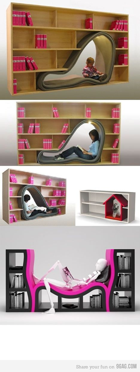 If I could figure out how to make the curved part, I'd build this in my office.