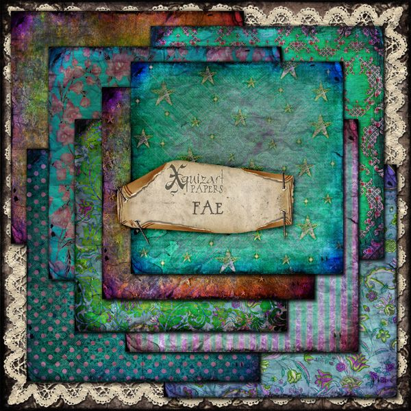 'Fae' Scrapbooking Papers