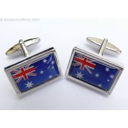 We are very excited to have our own line of Australian Flag Cufflinks. The ideal gift for the true blue Aussie! Exclusive online to Benjamin Cufflinks.