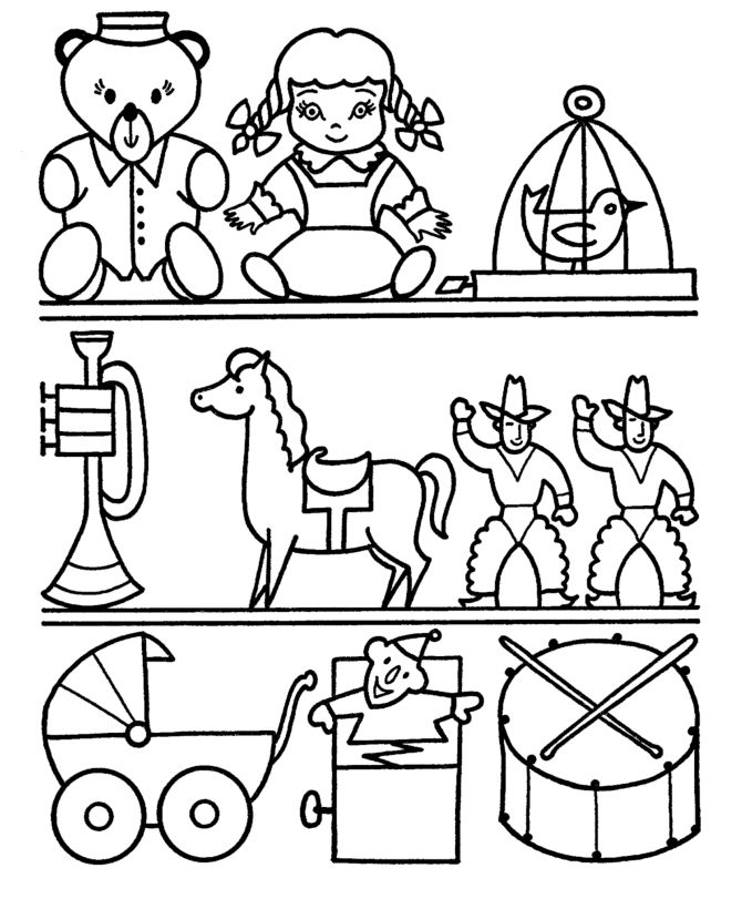 toy shops Colouring Pages Preschool coloring pages