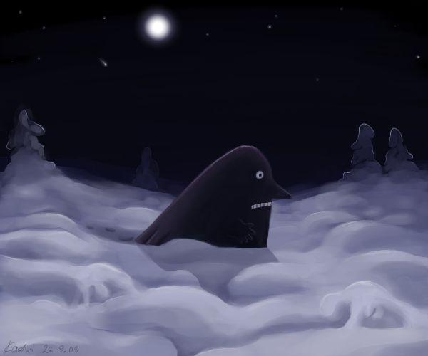 The Groke's winter by ~Rokoroko on deviantART