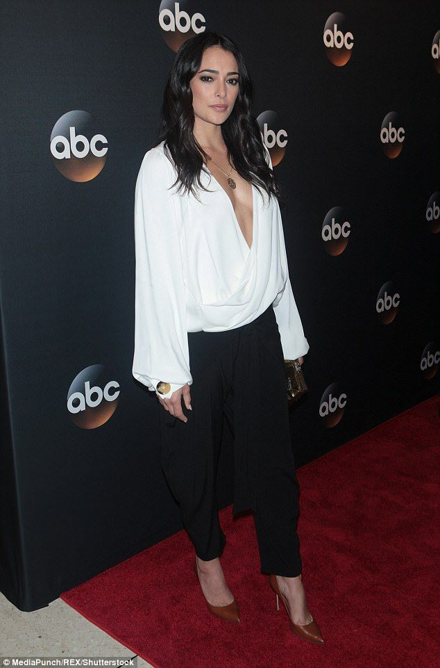 Bombshell: Natalie Martinez of ABC's Secrets & Lies had donned a voluminous white top with...