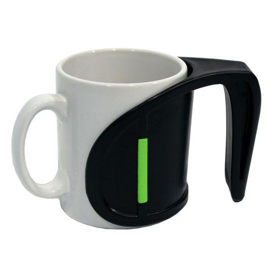 DUO Handle.  A nifty extra handle to improve grip and stability. Now you can use the same mug as family and friends wherever you are.