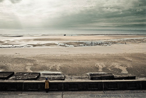 Watching - Lady looking out to sea in Bispham, Blackpool.