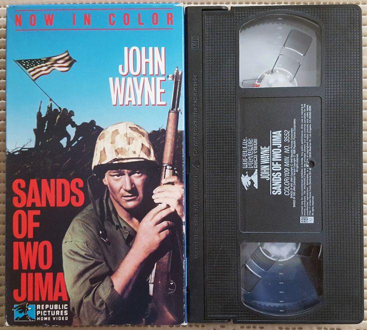 SANDS OF IWO JIMA, 1988 VHS NTSC NR COLORIZED, JOHN WAYNE, WWII, VG, 35% OFF 2+