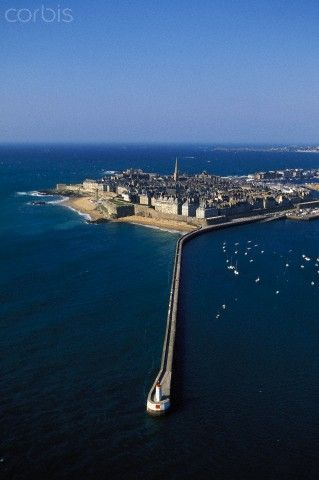The Fortified Town of Saint Malo.  All The Light We Cannot See