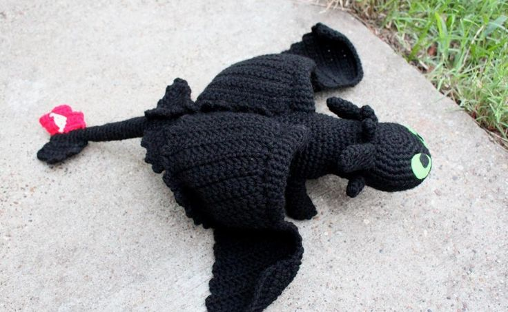 Crochet Toothless Pattern from How to Train Your Dragon ...