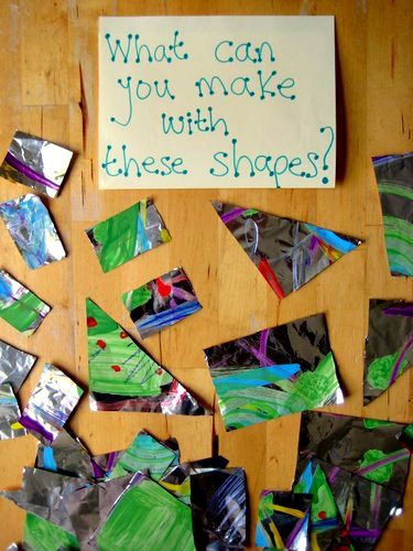 Give the kids a playful invitation to learn - combining art and maths games. Love it!