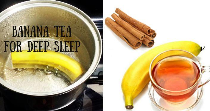Besser und natürlicher als jede Schlaftablette – Bananen-Zimt-Tee Rezept für einen tieferen Schlaf