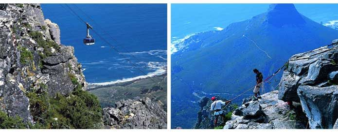 Ride a cable car or hike to the top of Table Mountain, Cape Town, South Africa