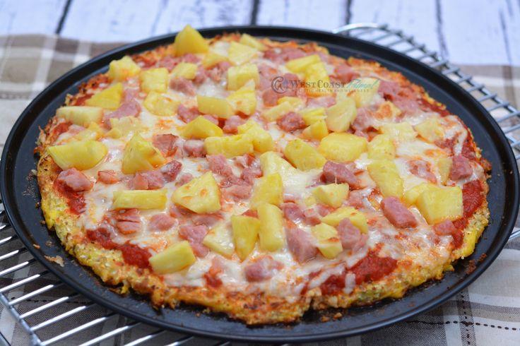 Hawaiian Pizza (Cauliflower Crust) #pizza #glutenfree