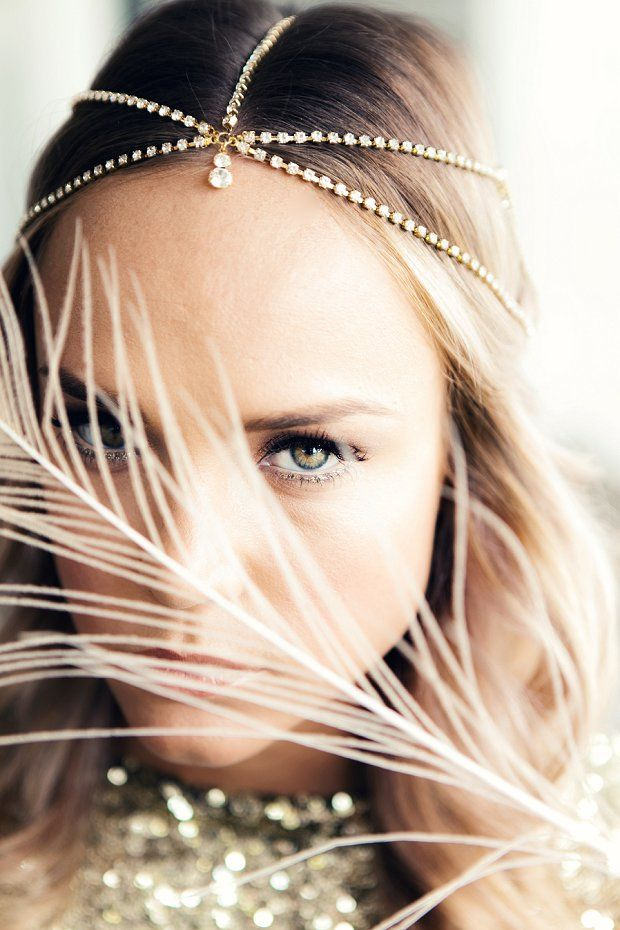 Beautiful boho headpieces! See more at http://www.wantthatwedding.co.uk/2014/07/23/all-that-glitters-beautiful-boho-glam-collection-by-shut-the-front-door/