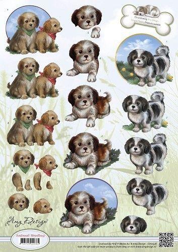 Puppies Decoupage sheet