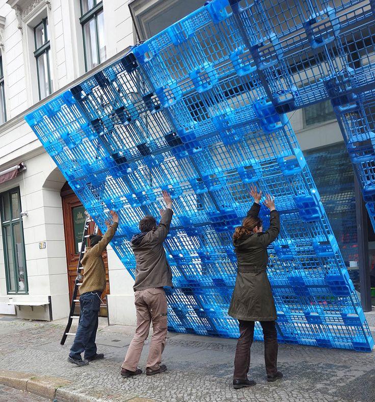 borgmann lenk reconstruct building façade using plastic pallets