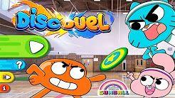 Gumball Disc Due: Gumball e seu amigos estão participando do torneio de hóquei na Elmore Junior High. Junte-a Gumball e vença a partida de hóquei. Divirta-se!