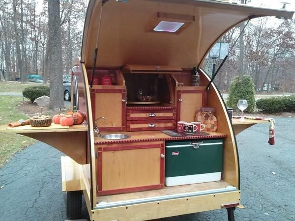 Custom Built 2014 Woody Teardrop Camper: neat design