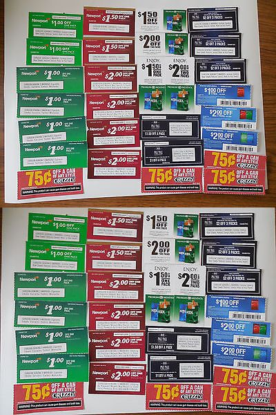 Coupons: $40 Tobacco Coupons: Newport, Salem, Pall Mall, Wave, Grizzly -> BUY IT NOW ONLY: $13 on eBay!