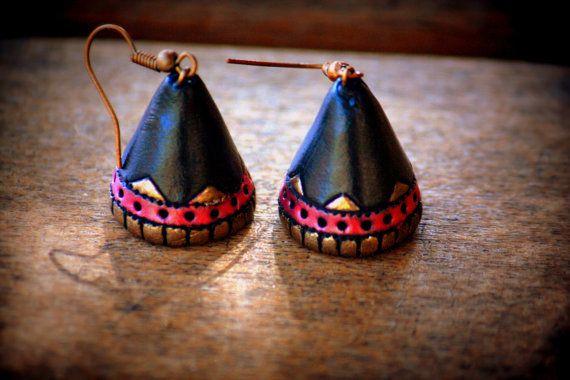 Ethnic terracotta jhumka - womens/girls dangling earrings