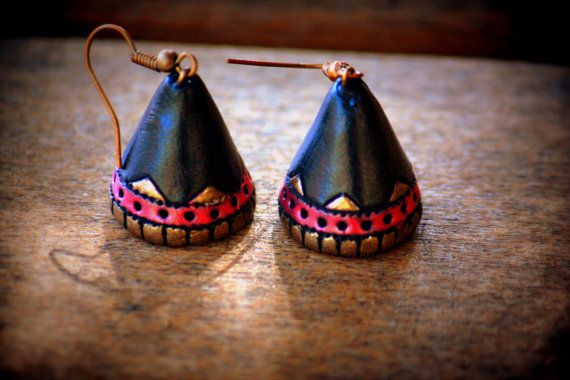 Ethnic terracotta jhumka - womens/girls dangling earrings