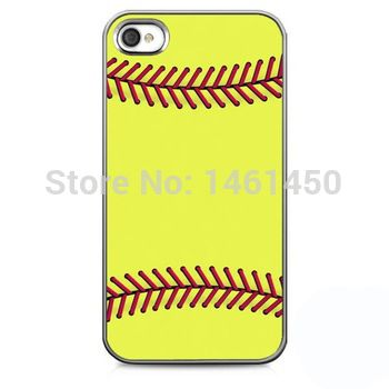Softball close-up cell phone case for iPhone 4s 5s 5c 6 Plus iPod touch 4 5 th Samsung Galaxy s2 s3 s4 s5 mini note 2 3 4 cases
