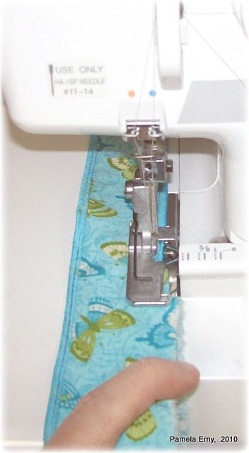 Perfect Serged Rolled Edges...A Quick Tip.