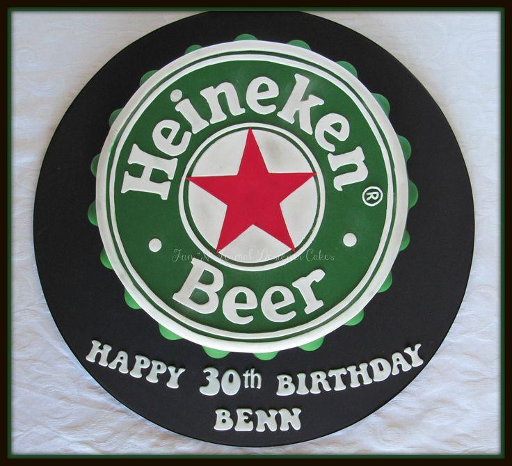 Heineken bottle top birthday cake.