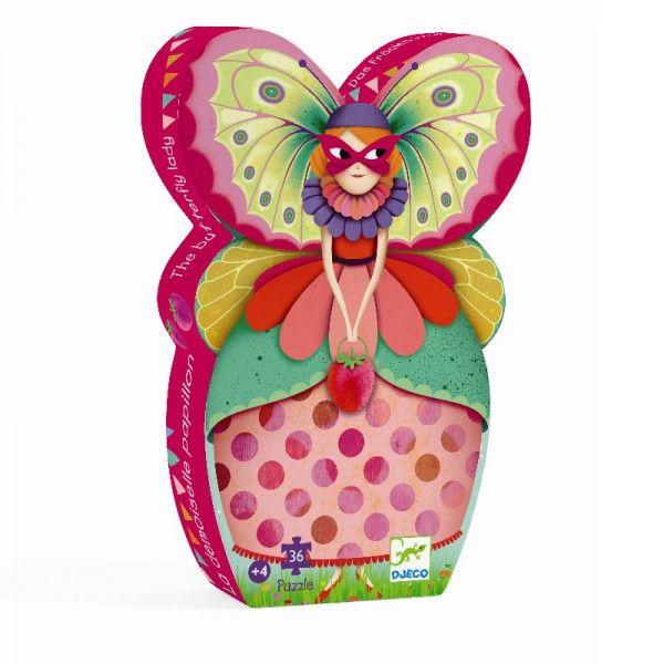 Djeco Puzzle Schmetterling Dame - Bonuspunkte sammeln, Rechnungskauf, DHL Lieferung