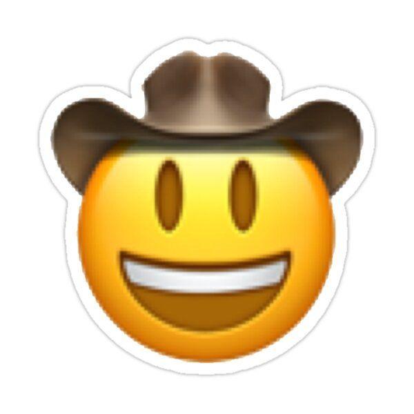 Cowboy Emoji Sticker By Rosieelizaa In 2021 Emoji Stickers Phone Stickers Iphone Case Stickers