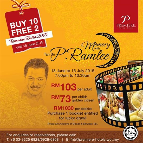 9-15 Jun 2015: Premiere Hotel Buy 10 FREE 2 Ramadan Buffet Promotion