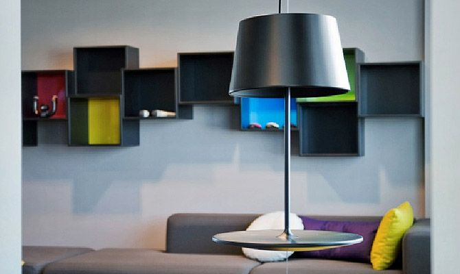 Lampa Illusion Northern Lighting czarna, Scandinavian Living