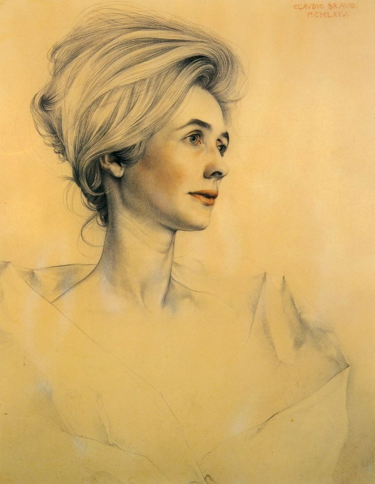 Portrait of Francine Maek by Claudio Bravo, Chilean, born 1936
