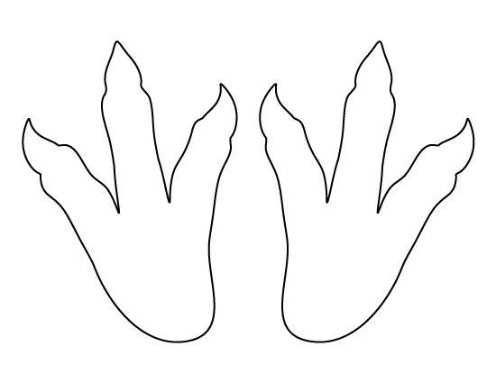 Dinosaur footprints pattern Use