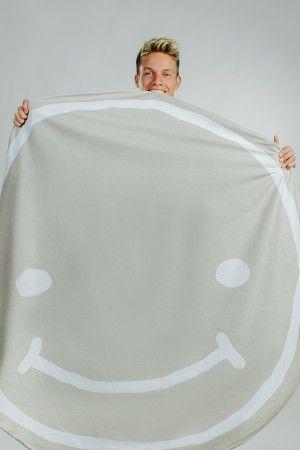 Limitiertes Rundes Smiley Handtuch