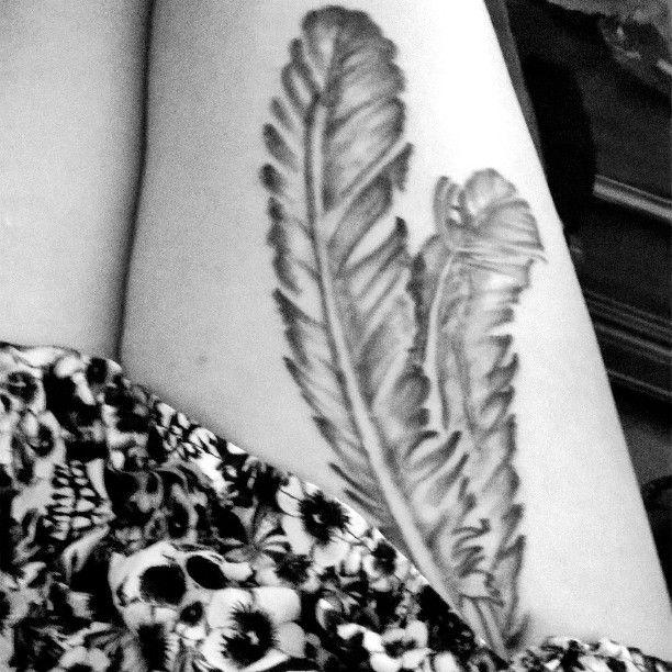 Owl feather tattoos