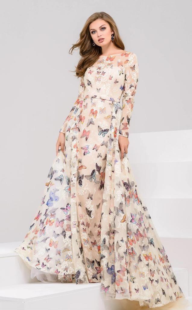 Jovani 49745 Dress Butterfly Print Dress Dresses Gowns