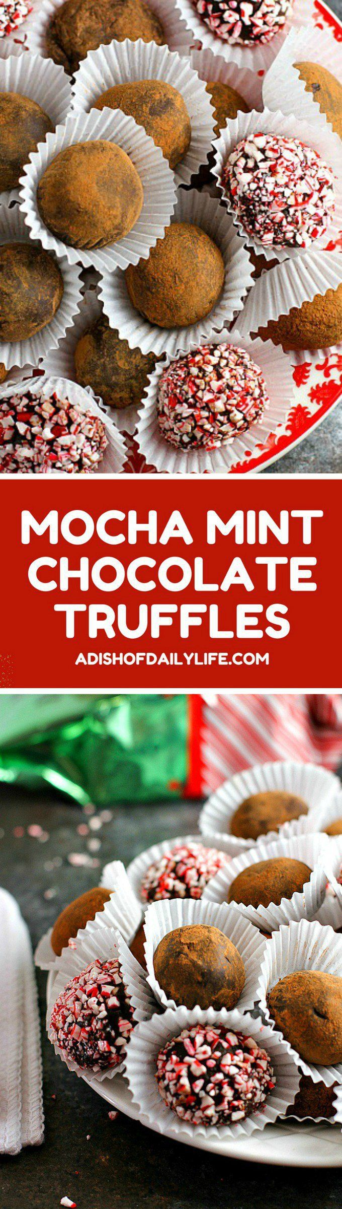 Rich and creamy, these Mocha Mint Chocolate Truffles are an easy-to-make decadent treat for the holidays! They make a wonderful hostess gift as well!  #ad #NewEnglandCoffee #YouAreExtraordinary