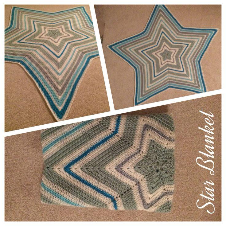 Star Blanket crochet - gehaakte Ster Deken