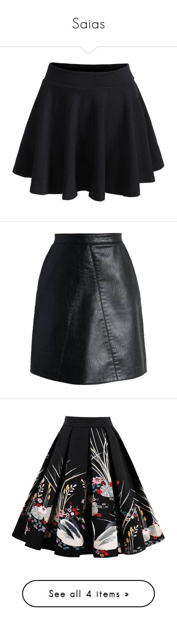Saias by cassimila on Polyvore featuring polyvore women's fashion clothing skirts bottoms saias black elastic waistband skirt knee length pleated skirt stretch waist skirt short summer skirts elastic waist skirt fake leather skirt chicwish skirts leather look skirt faux leather skirt vegan leather skirt gonne a-line skirts floral midi skirt floral pleated skirt cotton midi skirt a line midi skirt flare skirt flared skirts knee length flared skirts flared hem skirt midi skirt