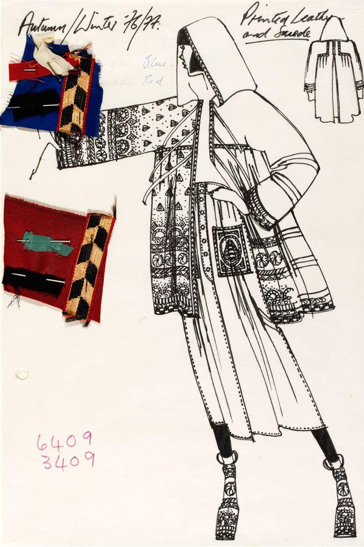 Tops fashion design sketches flat fashion sketch top 045 - Bill Gibb Sketch Fashion Design Drawingsdrawing