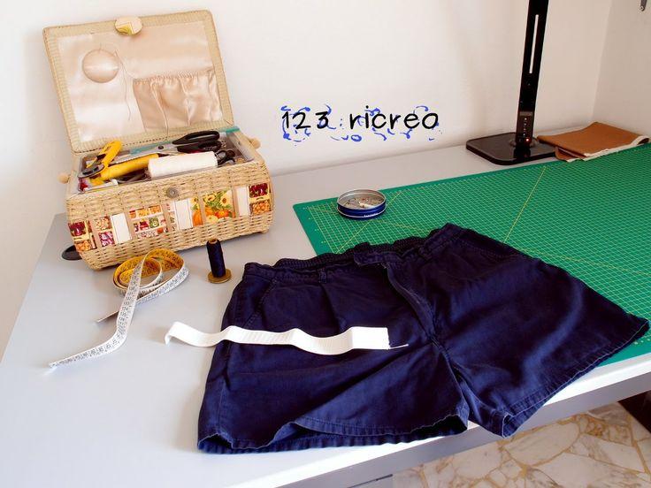 Sostituire l' #elastico a un paio di pantaloncini. L'elastico si trova solo sulla parte dietro della cintura -  #video 123ricreo
