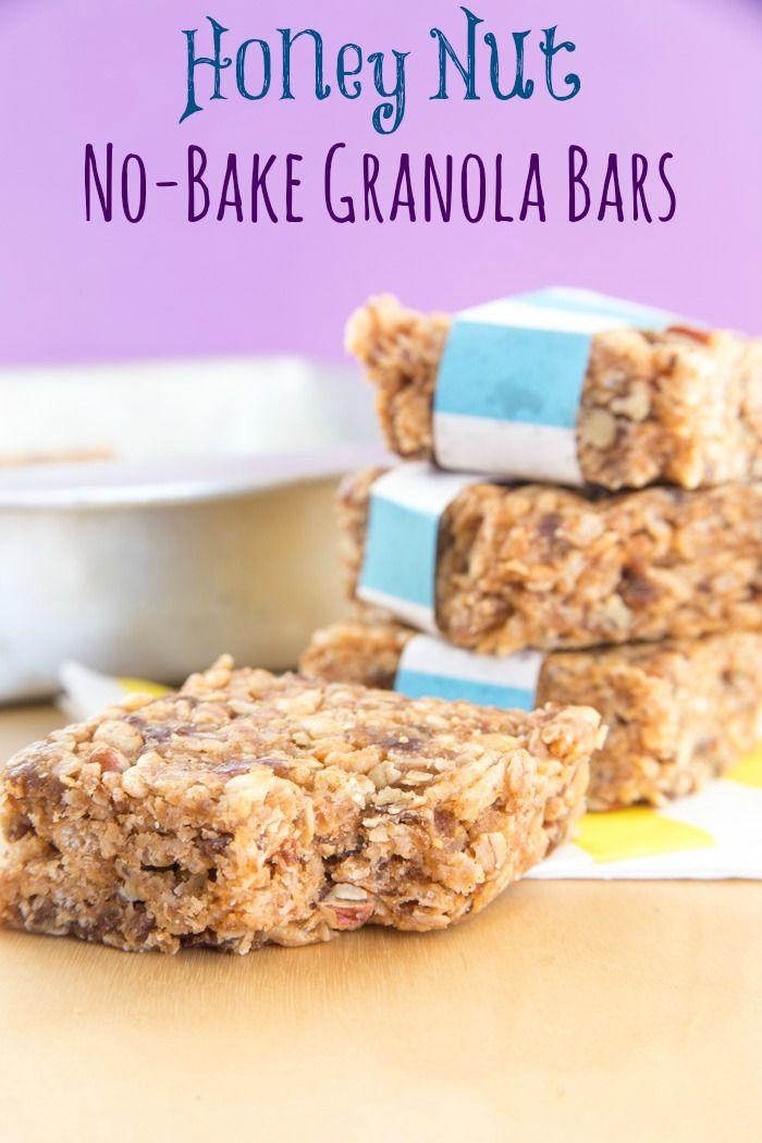 Honey Nut No-Bake Granola Bars - Cupcakes & Kale Chips