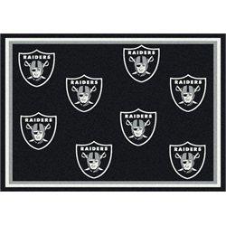 Oakland Raiders Rug Logo Repeat Mat