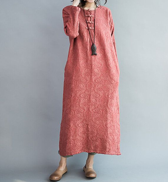 Spring fashion Cotton large size dress Loose Fitting by MaLieb